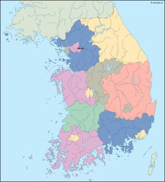 south korea vector map