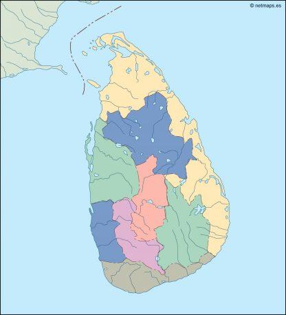 srilanka blind map