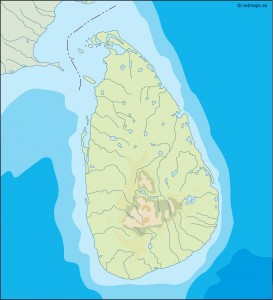 srilanka illustrator map