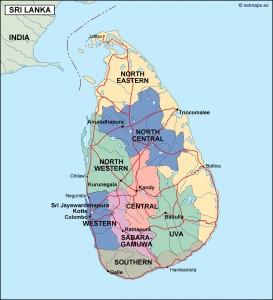 srilanka political map