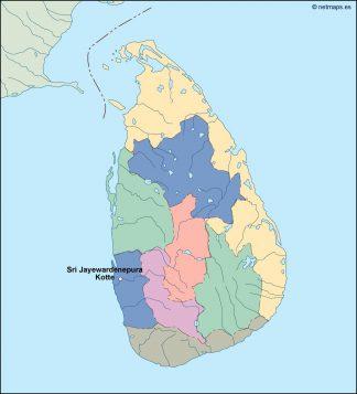 srilanka vector map