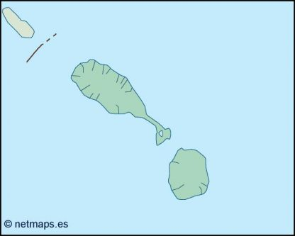 st kitts and nevis blind map