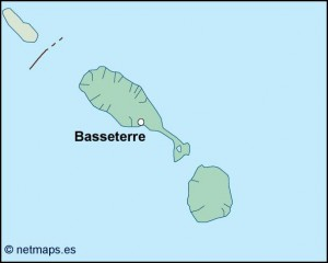 st kitts and nevis vector map