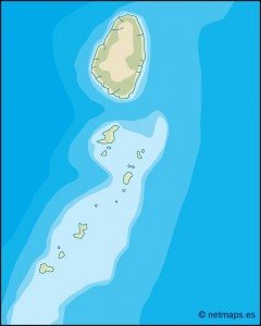 st vincent and the grenadines illustrator map