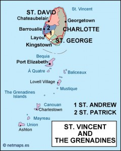 st vincent and the grenadines political map