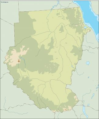 sudan illustrator map