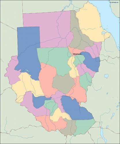 sudan vector map