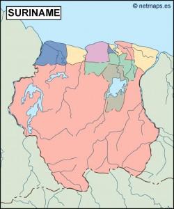 surinam blind map