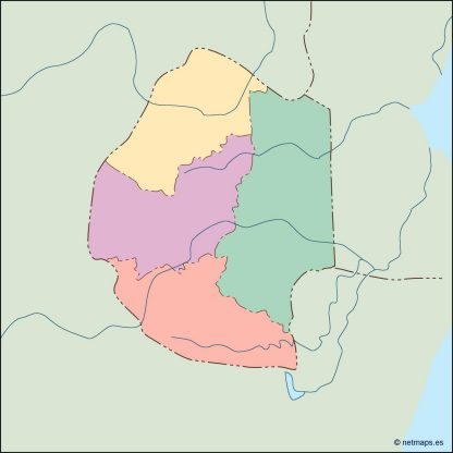 swaziland blind map