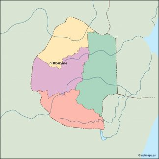 swaziland vector map