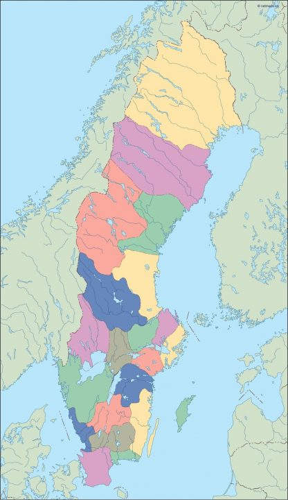 sweden blind map