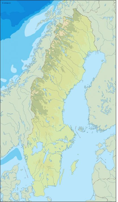 sweden illustrator map