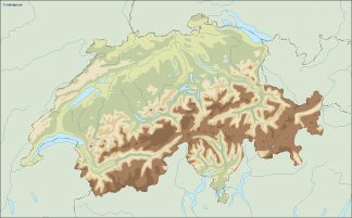 switzerland illustrator map