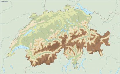 switzerland illustrator map