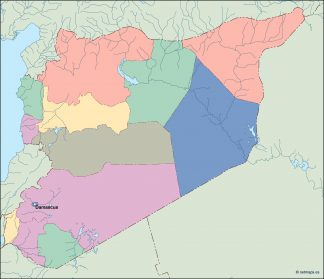 syria vector map