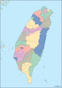 taiwan blind map