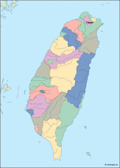 taiwan vector map