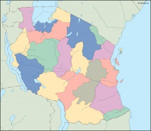tanzania blind map