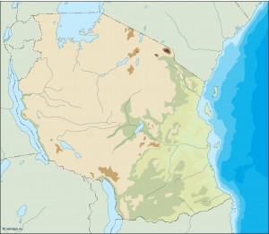 tanzania illustrator map