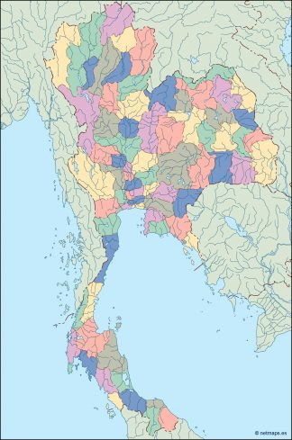 thailand blind map