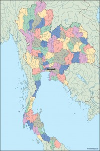 thailand vector map