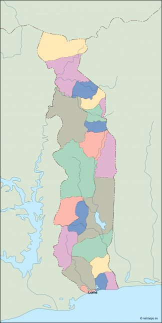 togo vector map