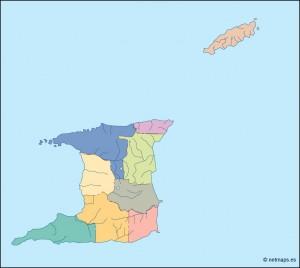 trinidad and tobago blind map