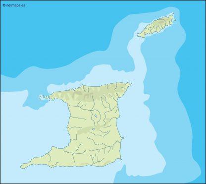 trinidad and tobago illustrator map