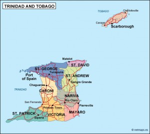 trinidad and tobago political map