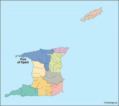 trinidad and tobago vector map