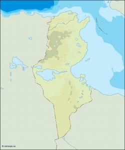 tunisia illustrator map