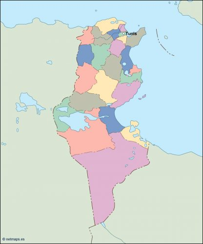 tunisia vector map