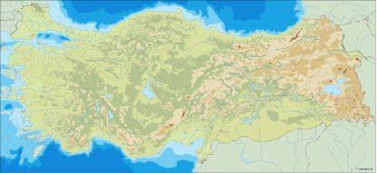turkey illustrator map