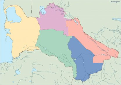 turkmenistan blind map