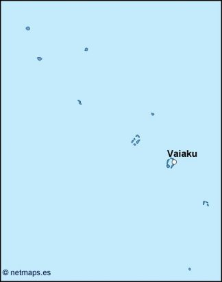 tuvalu vector map
