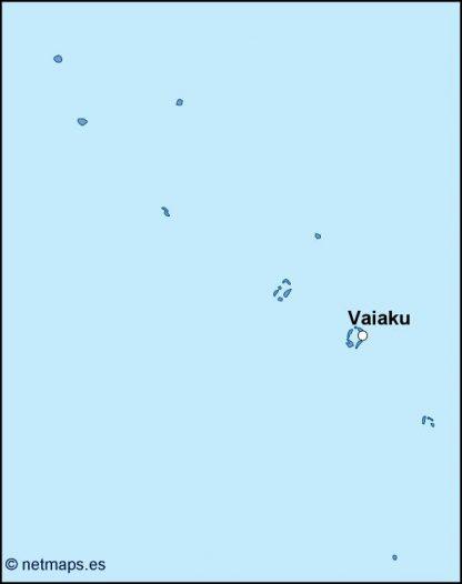 tuvalu vector map