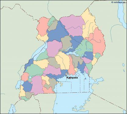 uganda vector map