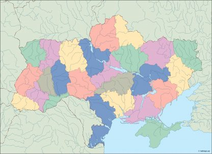 ukraine blind map