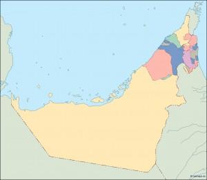 united arab emirates blind map