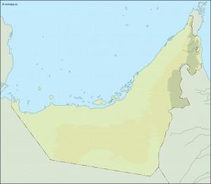 united arab emirates illustrator map
