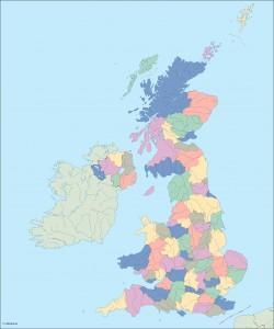 united kingdom blind map