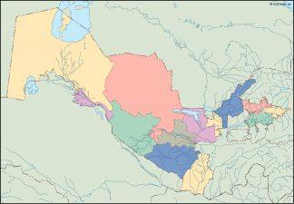 uzbekistan blind map