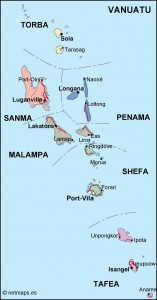 vanuatu political map