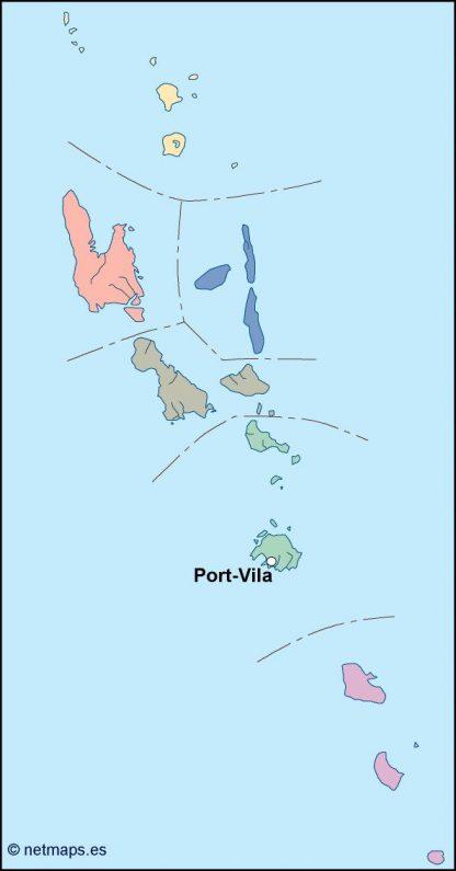 vanuatu vector map