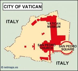 vatican political map