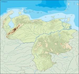 venezuela illustrator map