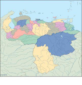 venezuela vector map
