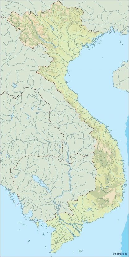 vietnam illustrator map
