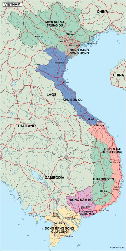 vietnam political map
