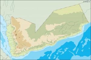 yemen illustrator map